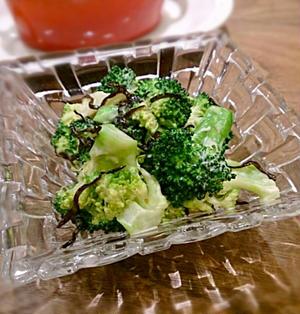 ブロッコリーの塩昆布マヨ