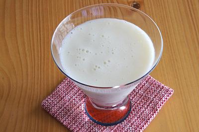 メロン+桃+ヨーグルトのフレッシュジュース