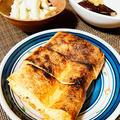 本日の肴…栃尾油揚げのネギ味噌、笹かまときゅうりわさびマヨ、ただ焼いただけのなす