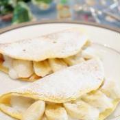 ふわふわメロンパンケーキ(バナナ入り)