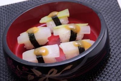 うどの握り寿司と天ぷら