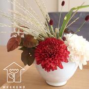お手頃!秋に美しく輝く旬の「マム」を食器に飾ってみよう♪