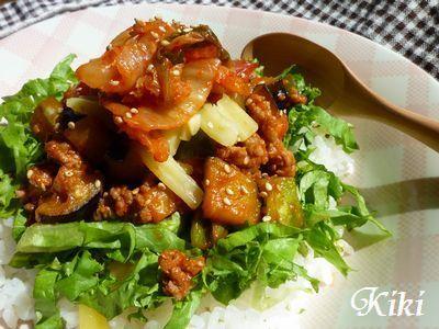 キムチon!!夏野菜タコライス