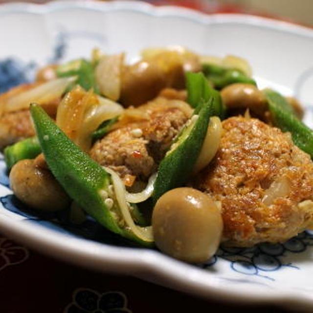 15/09/25 キムチ肉団子のオイスターソース炒め