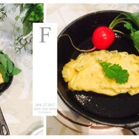 彩り朝ごはん♪〜フレンチハーブのオムレツとパプリカのスープ〜