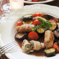 美味しいご褒美★ポークのバジル巻きイタリアンソテーと夏野菜