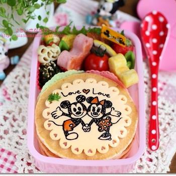 ♪【Disney~ラストコラボ】LoveLoveミッキー&ミニーのお弁当♪