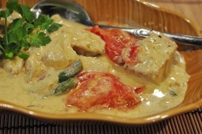 白身魚のココナツミルク煮