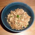 自家製なめ茸と絹ごし豆腐で~炒り豆腐
