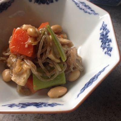 にんじん*大豆とふくめ煮。