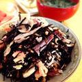 【ひじきマリネ】塩きのこ入りなまり節とひじきの梅酢和え