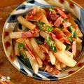 オクラと長芋のコンソメ醤油炒め