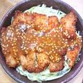 味噌カツ丼(チキンカツ丼、チキンかつ丼)鶏胸肉
