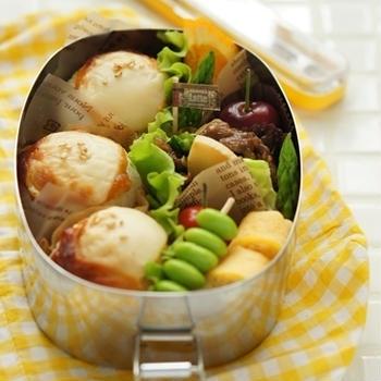 味噌マヨチーズ焼きおにぎりのお弁当++
