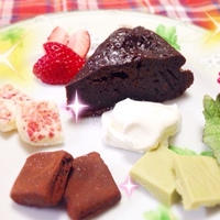 Valentineプレート ☆ キャドバリーのチョコで生チョコ