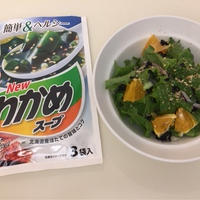 理研ビタミンわかめスープで夏のおうちごはん(^o^)株価付き