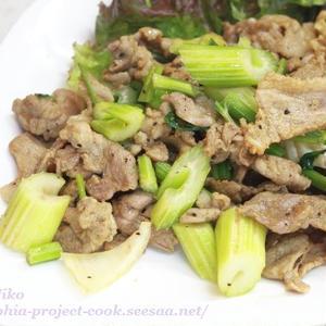 豚肉とセロリの炒め物