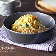 作りおきできるコールスロー、野菜たっぷりドライカレー、今日のレシピとお気に入りのスイーツトースト