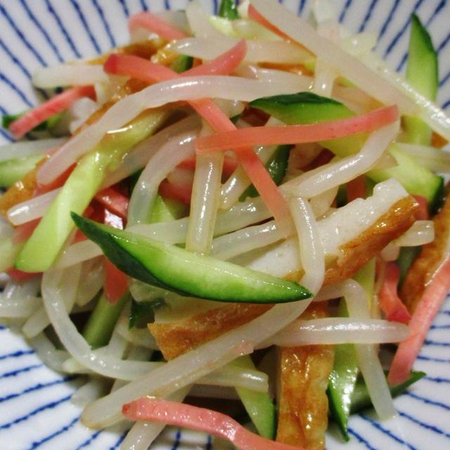 もやしと竹輪の紅生姜和え<余り紅生姜の活用レシピ>