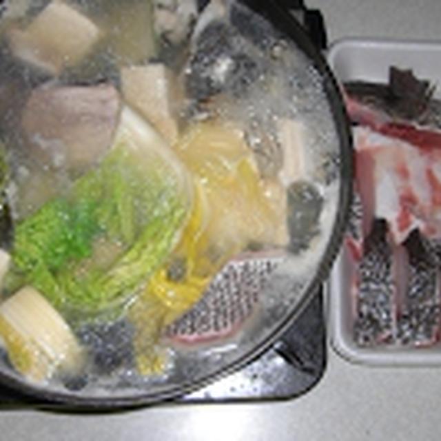 こしょう鯛のちり鍋をつくってみる