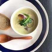 さつまいものココナッツグリーンカレー味スープ