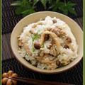 豚肉としめじの中華風混ぜご飯【ヒガシマル牡蠣だし醤油】