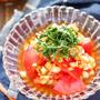冷やしトマトのオニオンドレッシングがけ【#作り置き #簡単 #スピード #やみつき #副菜】
