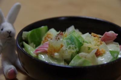 キャベツとハムの醤油マヨサラダ☆
