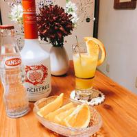 オレンジの ピーチフィズ