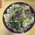 ◆うちごはん 「牛肉とニラの他人丼」 ◆