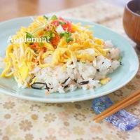 【缶詰・瓶詰使用で簡単10分】鮭とひじきの散らし寿司