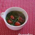 豆苗と春雨のエスニックスープ
