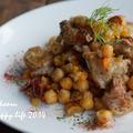 鶏とひよこ豆の白ワイン煮