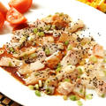 鯛のカルパッチョ☆ガーリックソース