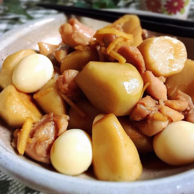 鶏肉と里芋の煮っころがし