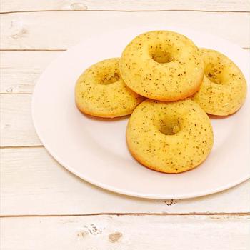 HMで作る♡紅茶のノンオイル焼きドーナツ