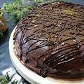 ガトーショコラのケーキと外で食べる家ランチ
