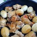 《レシピ有》ご飯が進む♪鶏手羽元と卵の煮物、ぶどう。