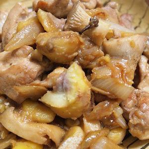 鶏肉と栗の炒め煮