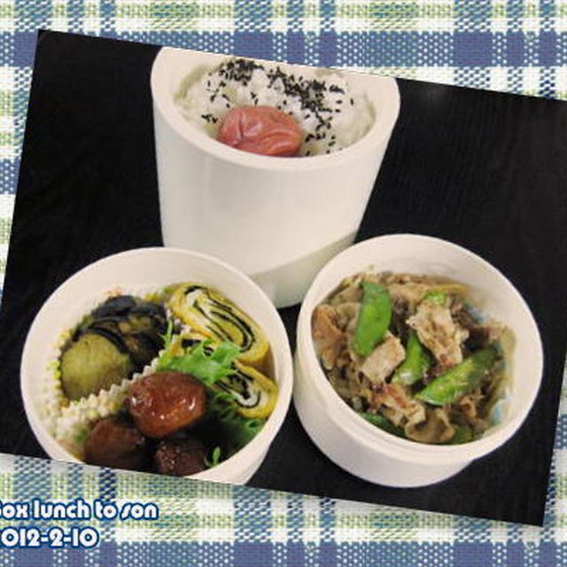 ★お弁当 -太もやしと豚肉のポン酢炒め-