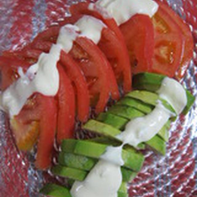 「トマトとアボガドのサラダ」