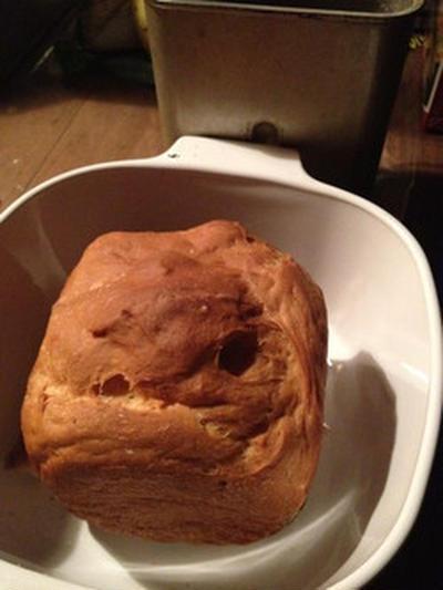 夜中にパンを焼く。計りは無しでオッケー。
