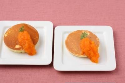 【12月の旬野菜レシピ】ニンジンジャムのパンケーキ