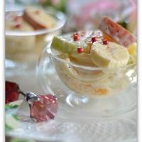 【朝パスタ】早ゆでパスタde作るマカロニフルーツサラダ