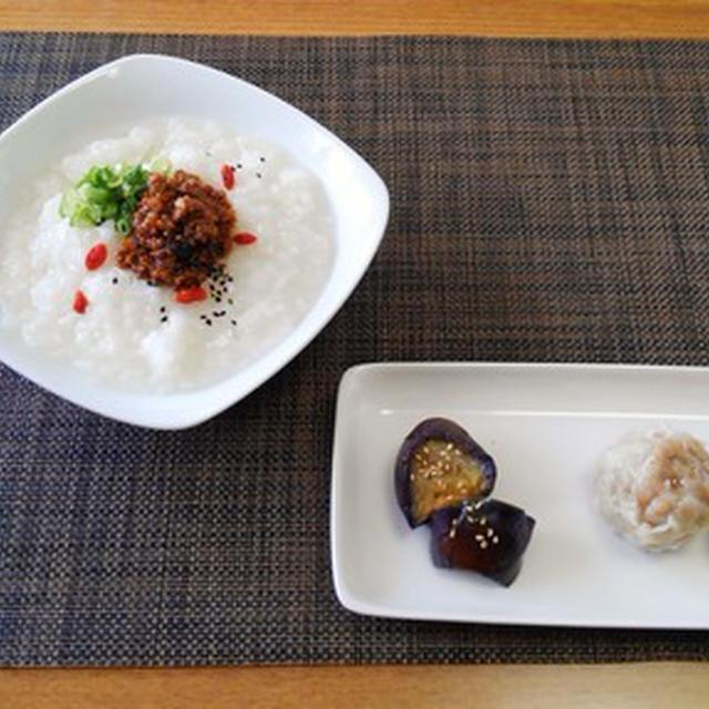 メインに副菜に活躍☆肉みそのっけ中華粥♪☆♪☆♪