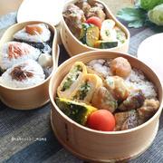 お弁当おかずレシピ☆手羽元と椎茸のレモンしょうゆ煮、かぼちゃの塩バター煮
