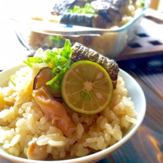 生サンマで秋刀魚の炊き込みご飯のレシピ。