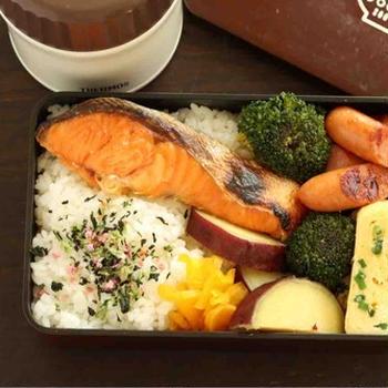 焼鮭弁当〜食べざかり男子のお弁当