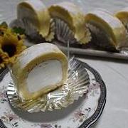 ミルキーなロールケーキと朝ごパン