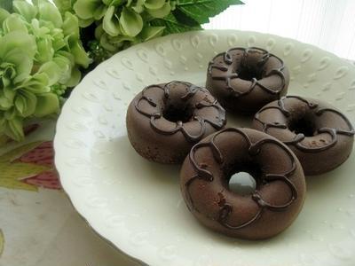チョコ焼きドーナツ